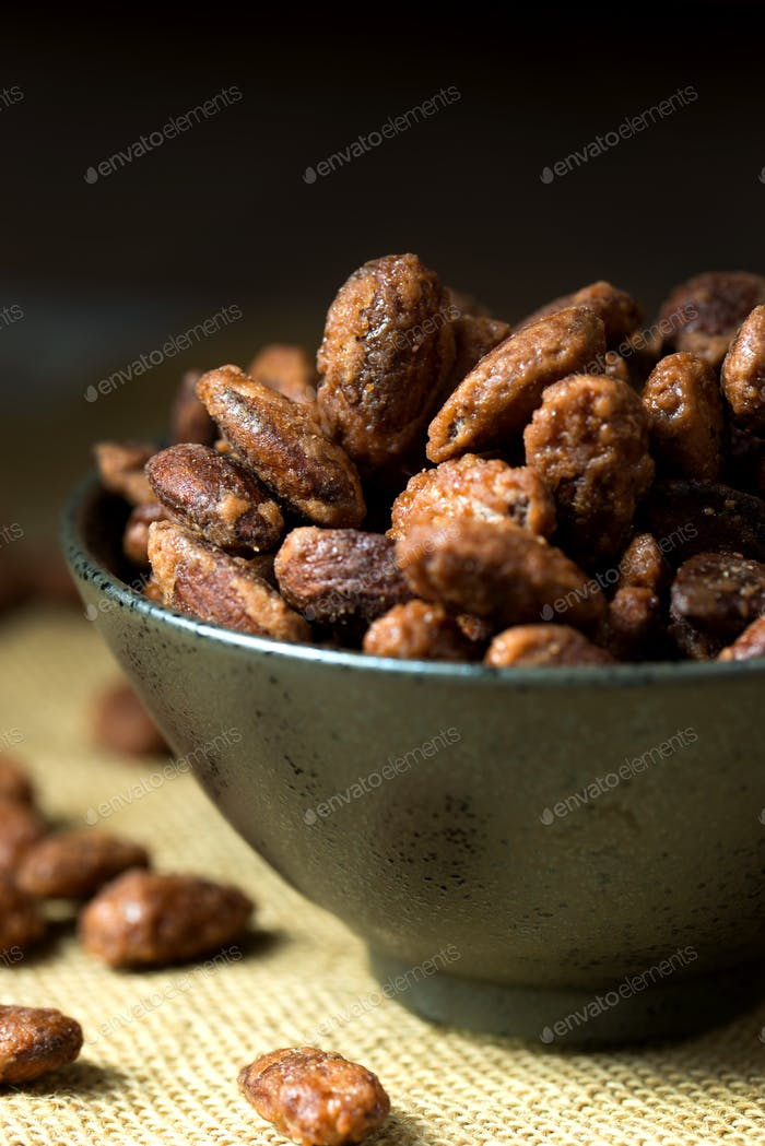 Sugar coated roast almond