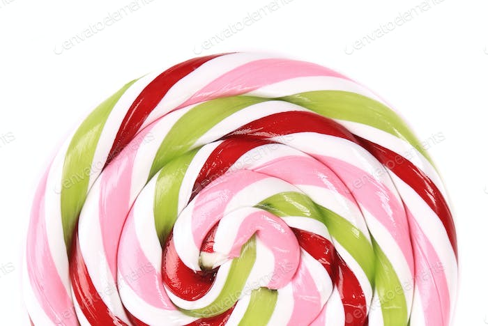 Lovely lollipop with red pinck green