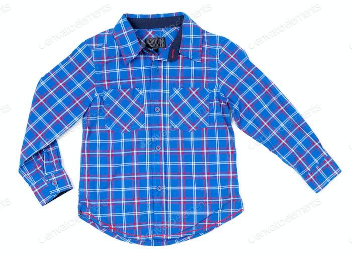 Children plaid shirt