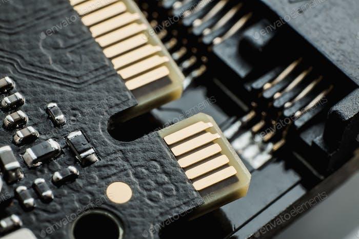 Elektronisch Schaltung Unschärfe Computerplatine. Unschärfe elektronisch Schaltung Nahcomputer