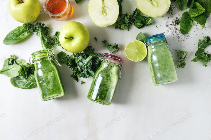 Grüner Spinat Apfel Smoothie