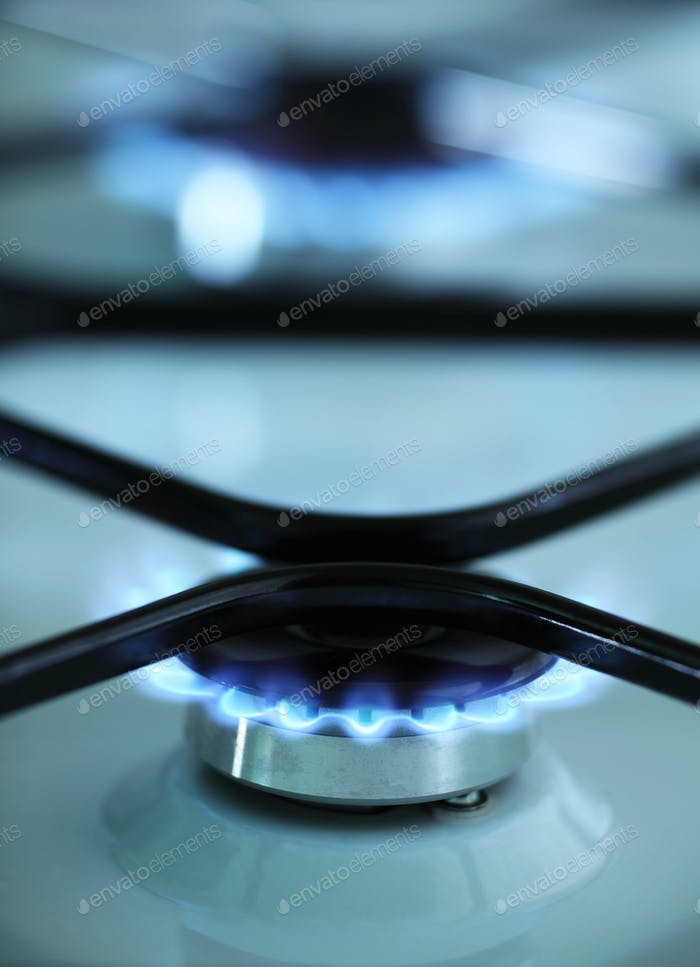 Gas stove flames