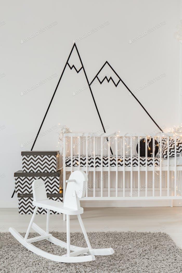 Child room with crib