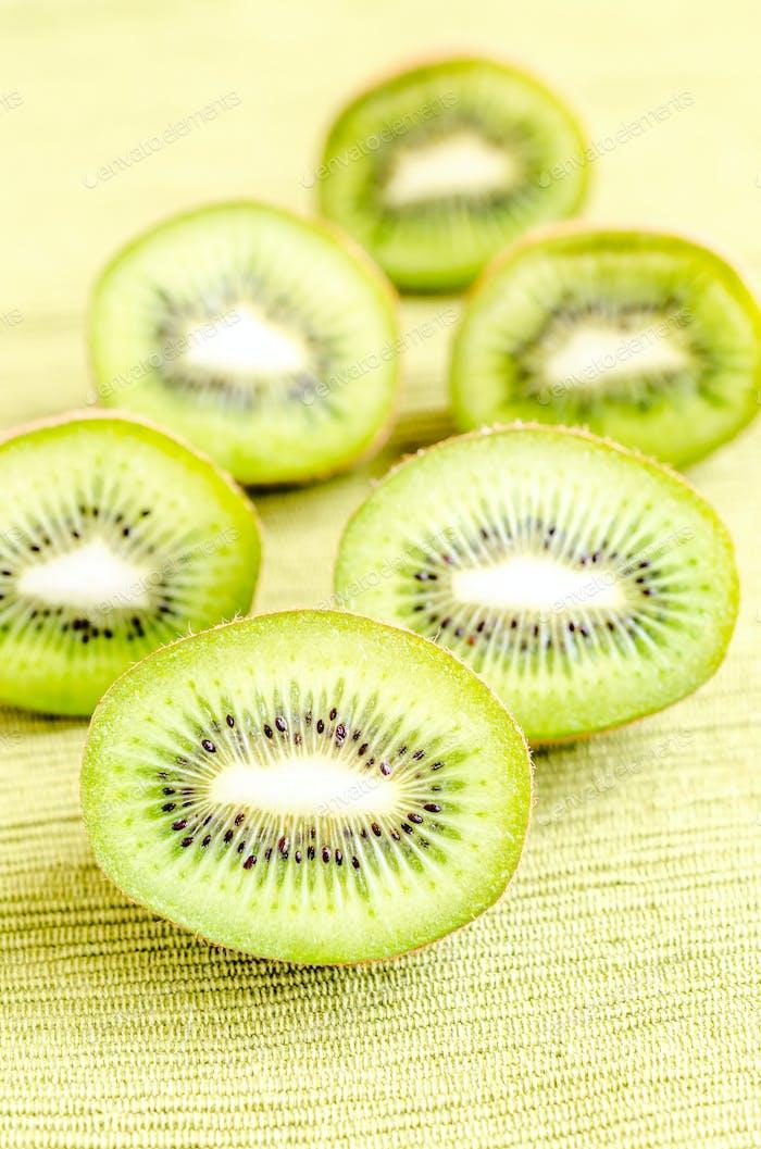 Querschnitt Kiwifruits