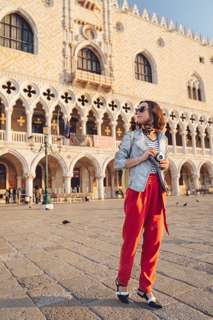 Young tourist on the Piazza San Marco