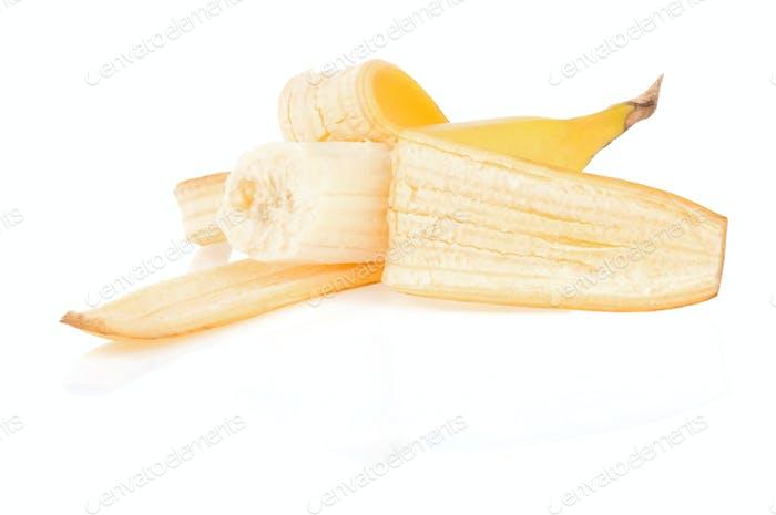 fresh fruits banana isolated on white