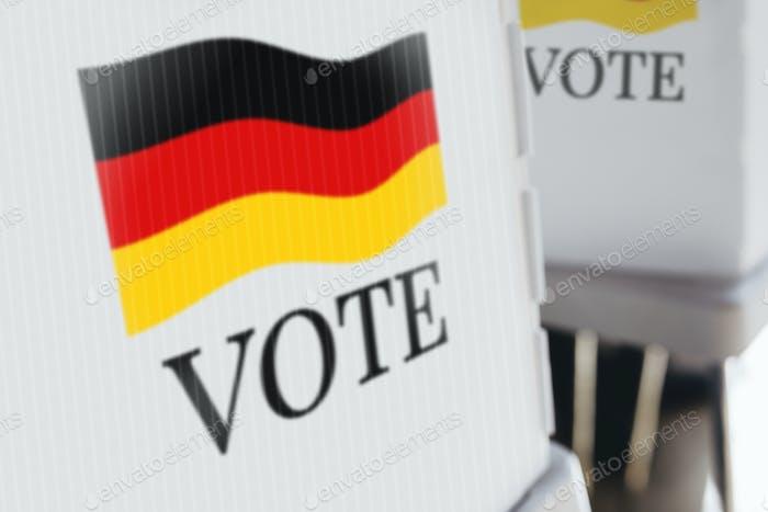 Signo de campaña de votación democrática en Alemania