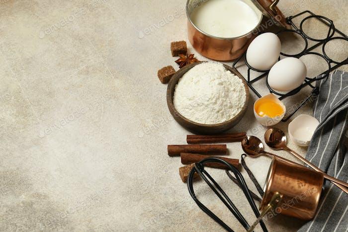 Set Baking Food Ingredients