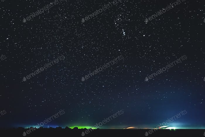 Natural Real Night Sky Stars Background