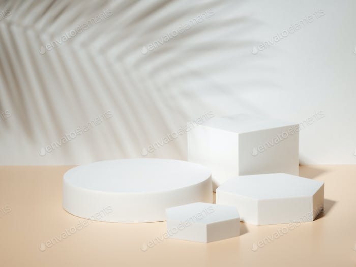 Podium mockup for cosmetic and packaging