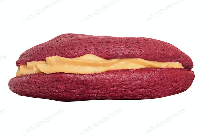 eclair isolated on white background