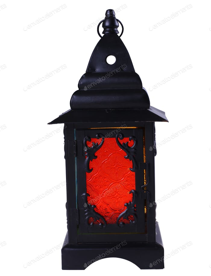 Colored Lantern Isolated.