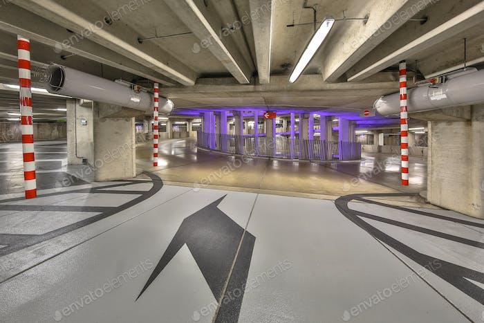 Circular parking garage stadium