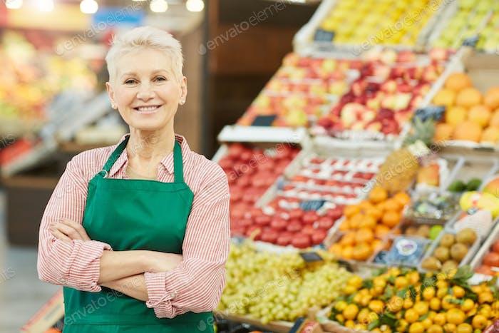 Female Fruit Shop Owner
