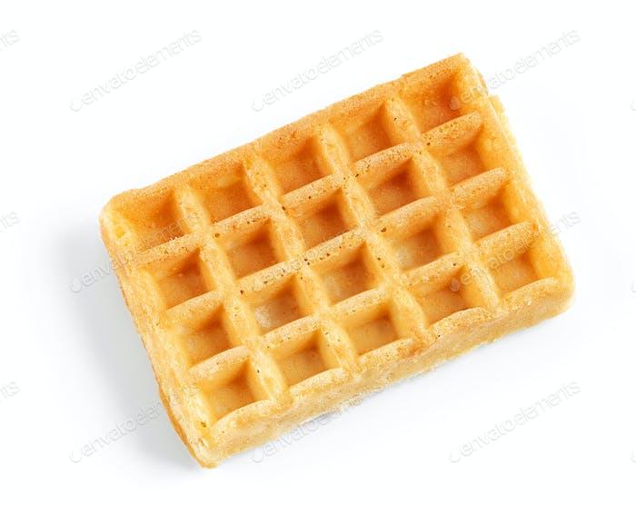 waffle on white background