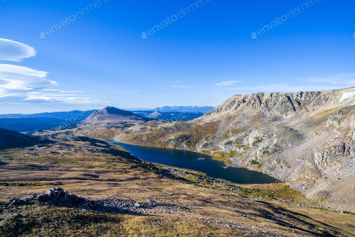 Alpine Lake in the Beartooth Mountains