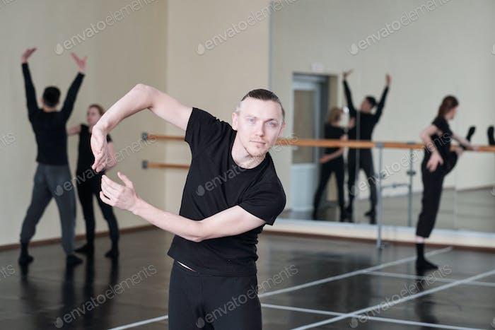 Caucasian Man Dancing Portrait
