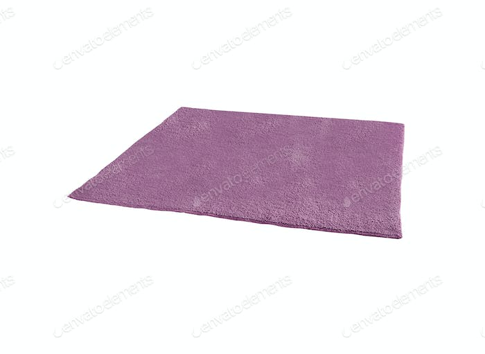 natural plush terry cloth turkish bath isolated on white background