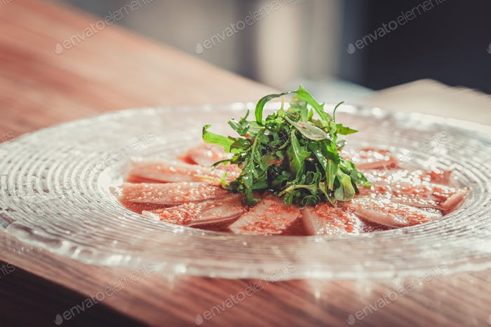 Delicious appetizer with herbs