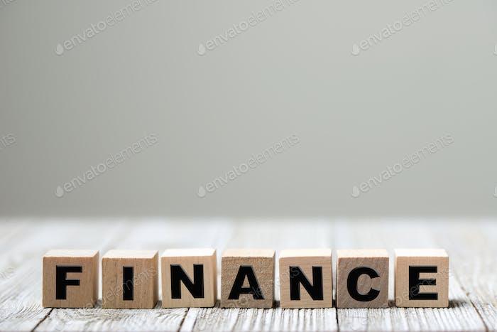 concepto de palabra financiera
