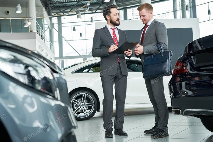 Concluding a contract for purchase the car