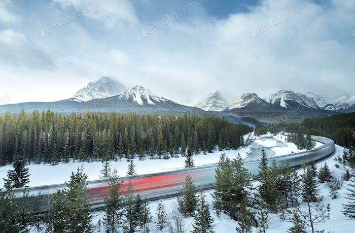 Morant's curve Banff national park, Alberta Canada