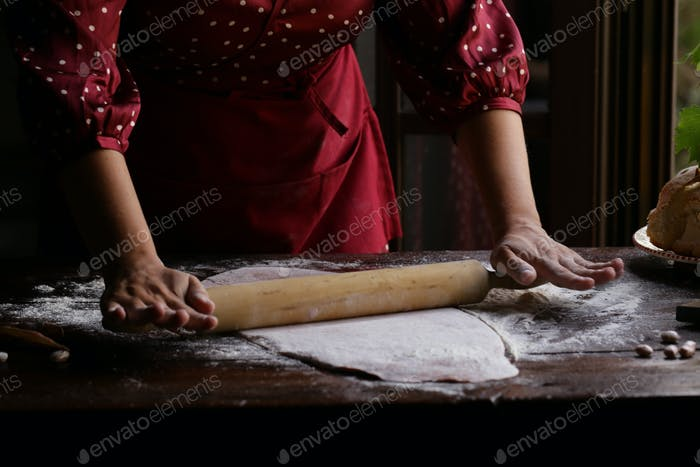 Female Hands with Dough