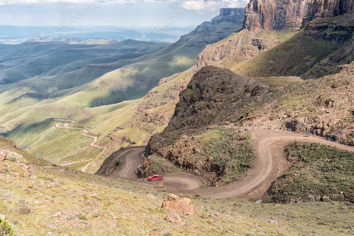 Hairpin bends in the Sani Pass