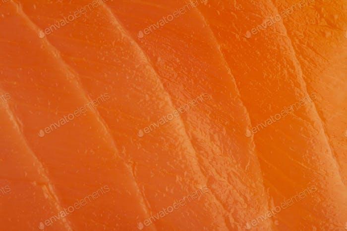 Makro Nahaufnahme Textur von rosa Lachs Fleisch