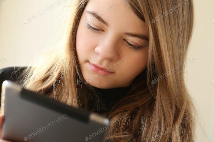 Teenage with ipad