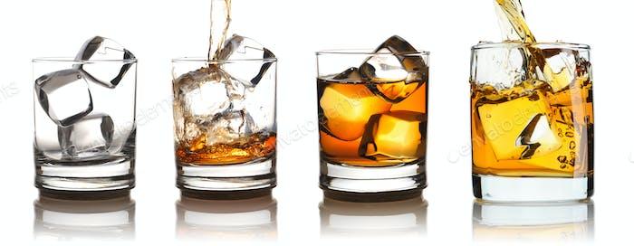 Whisky im Glas mit Eisset