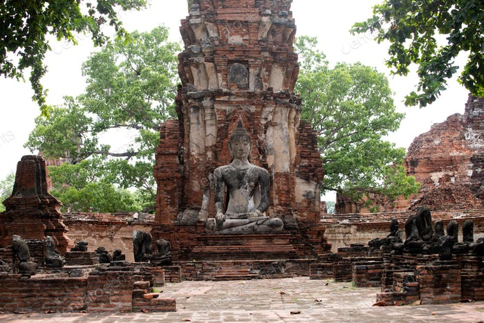 Wat Mahathat Temple at Sukhothai Historical Park, a UNESCO World