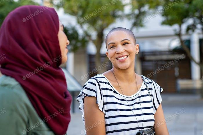 Muslim woman with friend