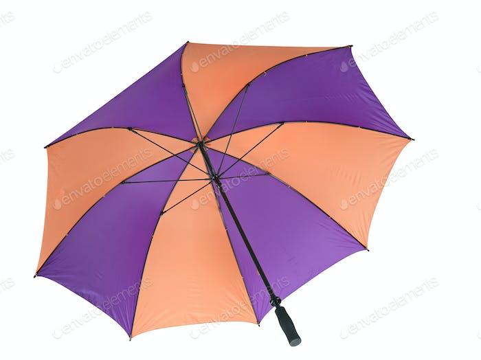 Regenschirm isoliert über weiß.