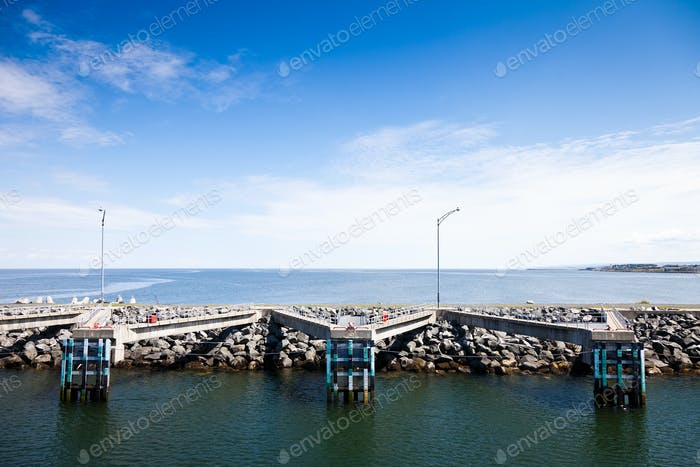 View of pier and the port
