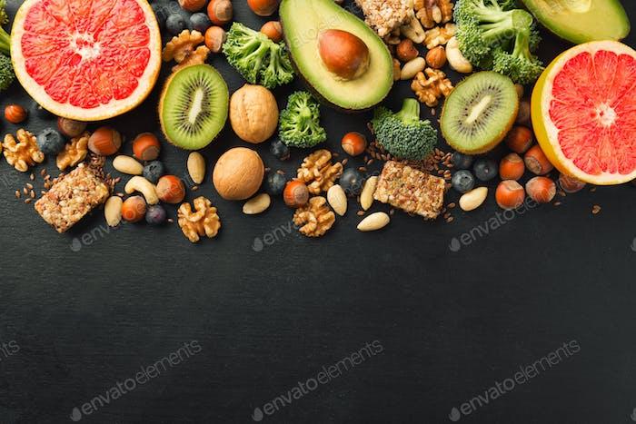 Fondo de Estilo de vida de alimentos saludables