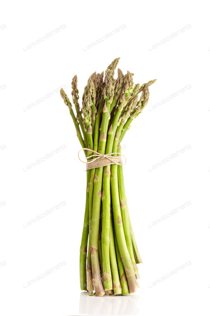 Fresh asparagus officinalis isolated