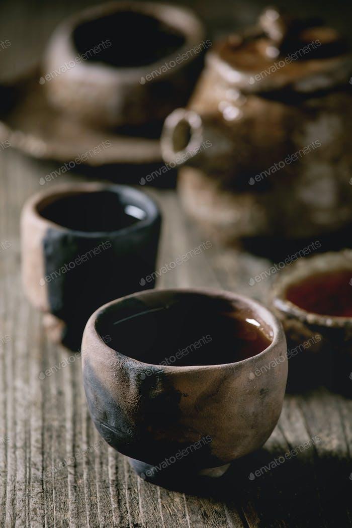 Hot black tea