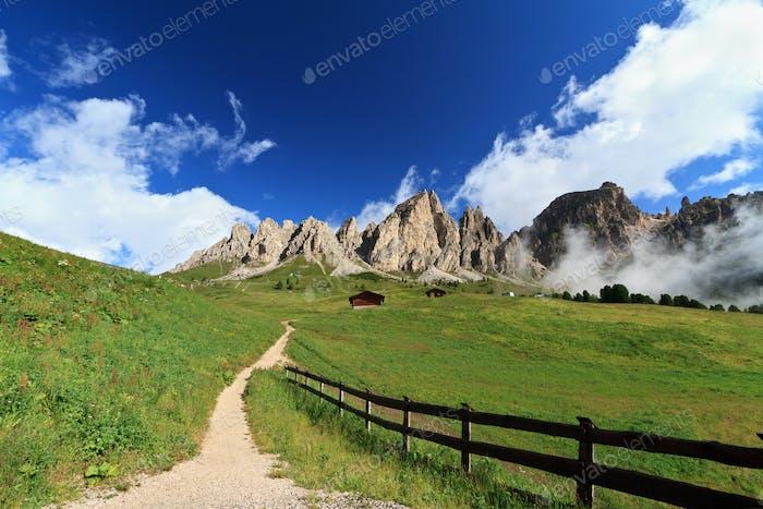 pathway in Italian Dolomites