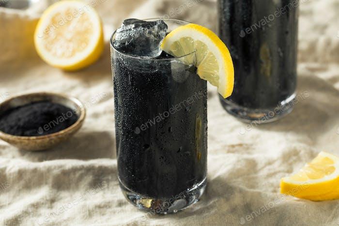 Refreshing Black Activated Charcoal Lemonade Detox