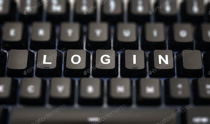Логин онлайн концепция.