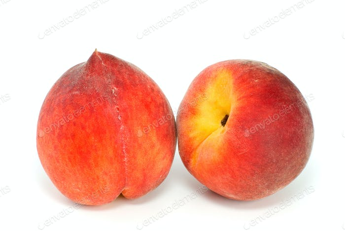 Pair of red peaches