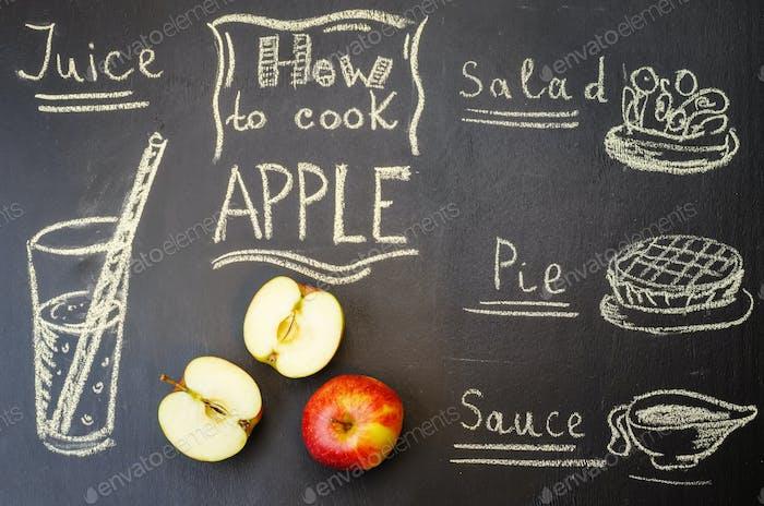 wie man Apfel mit Äpfeln kocht