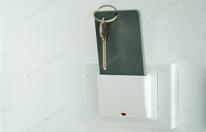 Keytag,Magnetic card in key box holder switch.