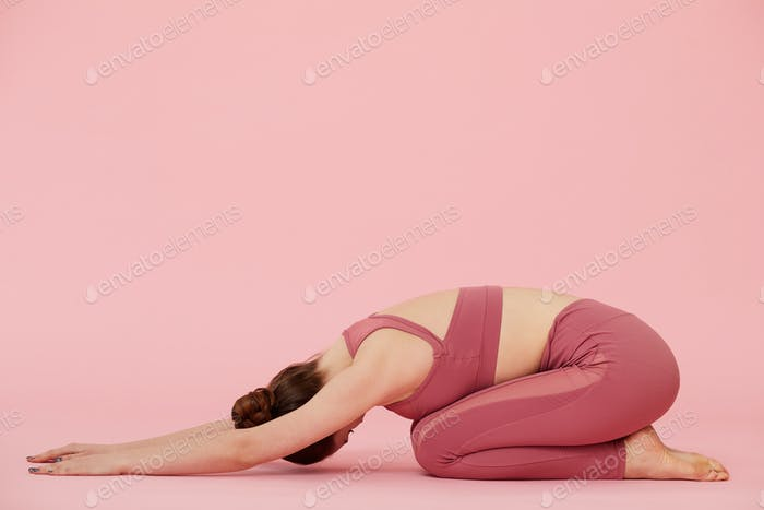 Woman relaxing during yoga