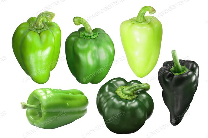 Green bell peppers c. annuum