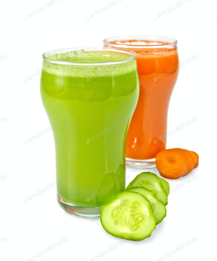 Juice cucumber and carrot