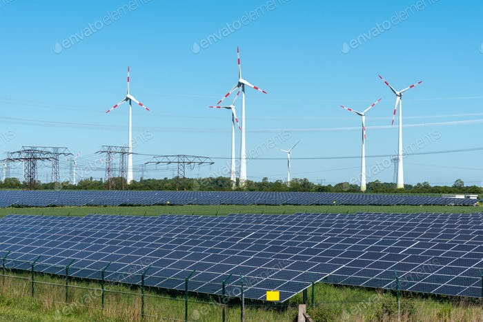 Renewable energy generation and power transmission lines