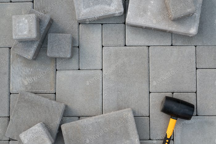 Paving stones paving background
