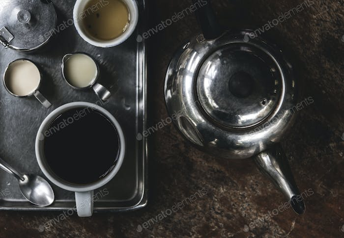 Old style Asian coffee set